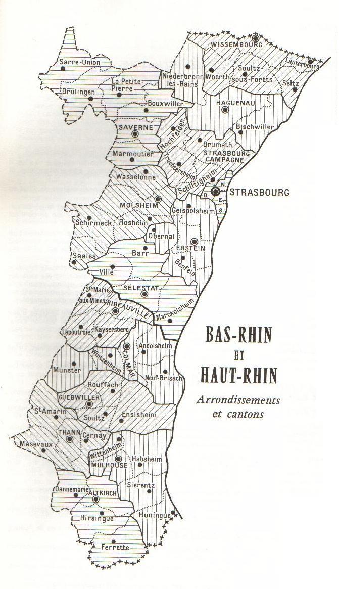 Carte Alsace Departement.Alsacegenweb Francegenweb Alsace